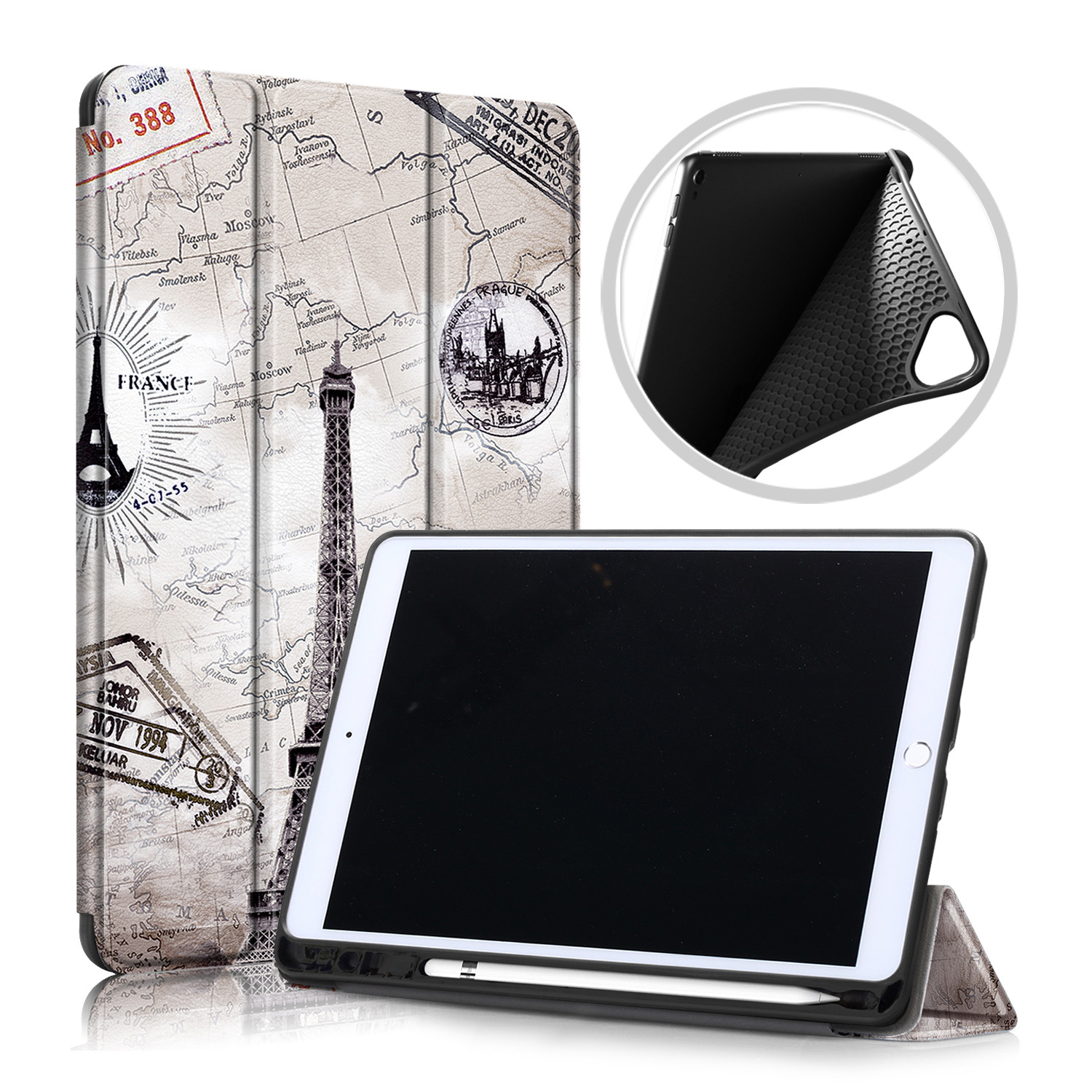 Holder 2020 Pencil Magnetic with Inch Folding Case Funda Tablet Stand Smart 10.2 For IPad