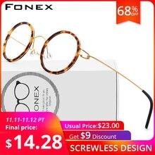 טיטניום סגסוגת משקפיים מסגרת גברים נשים קוצר ראייה אופטי דנמרק Ultralight מרשם משקפיים קוריאני ללא בורג Eyewear 98613