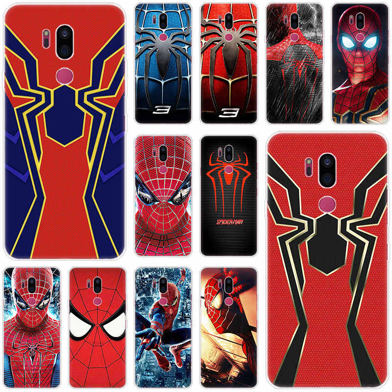 Marvel Spider man Zachte Case Voor LG G5 G6 Mini G7 G8 G8S V20 V30 V40 V50 ThinQ Q6 Q7 q8 Q9 Q60 W10 W30 Aristo 2 X Power 2 3 Cover