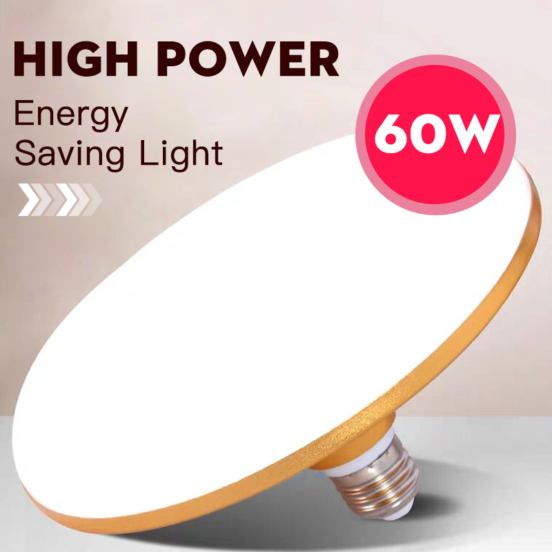 E27 Led Bulb 220V Led Lamp 15W 20W 30W 50W 60W 40W Super Bright UFO Leds Lights Bulb For House Lighting Table Lamps Kitchen