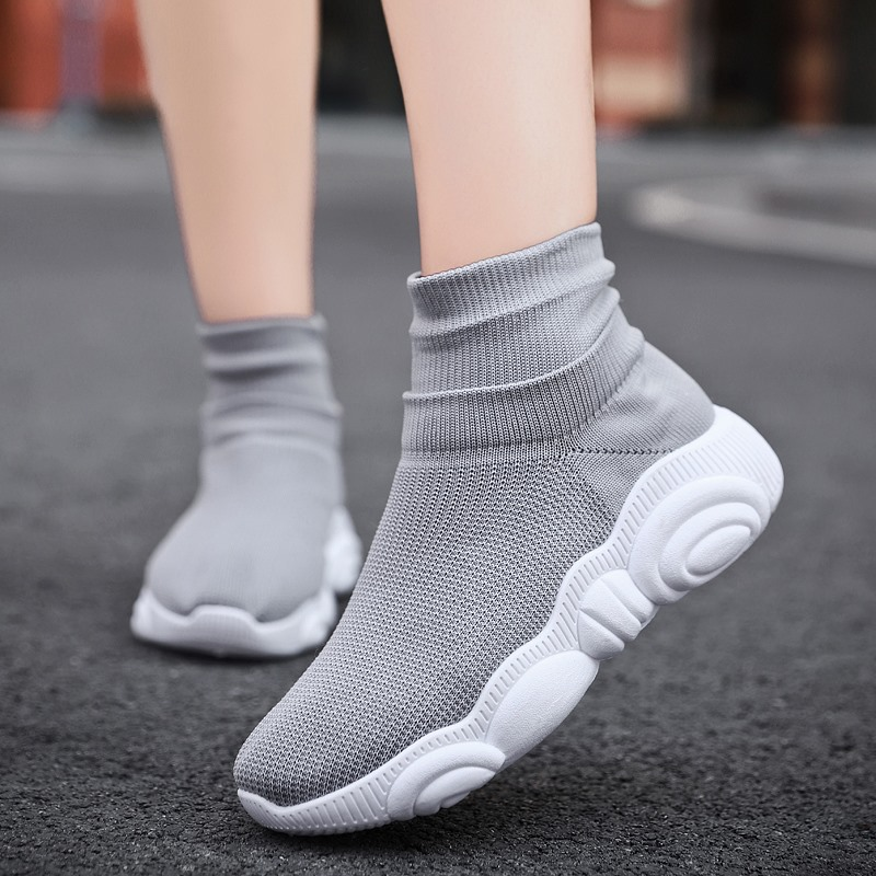 YRRFUOT Women Casual Shoes Brand Lace-up Outdoor Woman Fashion Sneaker Vulcanized Shoes Zapatos Mujer Women Sneakers  Flyknit