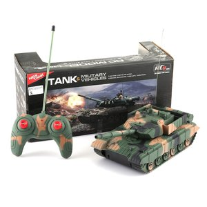 Cool RC Tank Toys For Boys Radio Remote Control Military Vehicle Armored Battle Tanks Turret Rotation Light Music RC Model 1:20