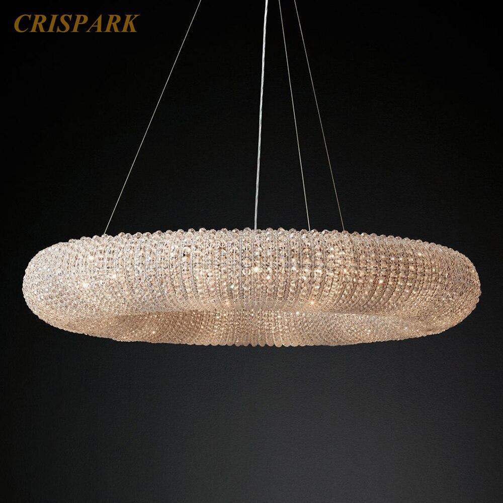 Винтажные хрустальные люстры Halo Lustre de Cristal подвесной светильник современный светильник