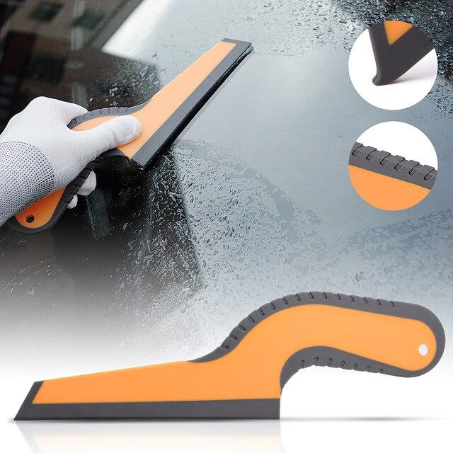 FOSHIO uchwyt gumowy skrobak czyszczenie samochodu narzędzie szklane okno folia barwiąca zainstaluj czystą ściągaczkę do usuwania wody akcesoria do mycia