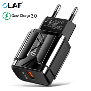 3 А Быстрая зарядка 3,0 USB зарядное устройство ЕС настенный мобильный телефон зарядное устройство адаптер для iPhone X MAX 7 8 QC3.0 Быстрая зарядка дл...
