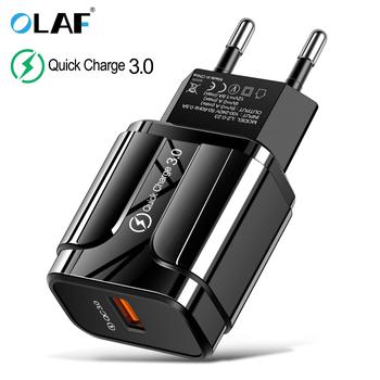 3A szybkie ładowanie 3 0 ładowarka USB ue ścienny adapter ładowarki do telefonu komórkowego dla iPhone X MAX 7 8 QC3 0 szybkie ładowanie dla Samsung Xiaomi tanie i dobre opinie olaf Quick Charge 3 0 fast charging usb charger Qualcomm szybkie ładowanie 3 0 Ac Źródło 100-240 V 0 6A RoHS Podróży