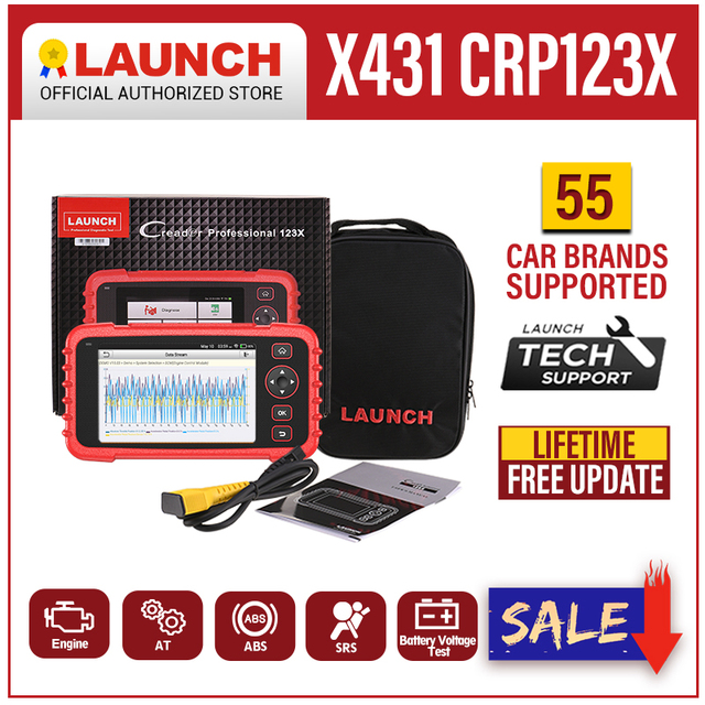 Launch X431 CRP123X OBD2 Scanner ENG ABS Airbag SRS AT Auto Diagnostic Tool OBD Code Reader Diagnostic Scanner WIFI Free Update