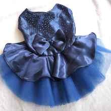 Сетчатые платья принцессы для собак; летняя одежда для собак; платье-пачка принцессы с бантом; кружевная юбка для свадебной вечеринки; одежда для домашних животных