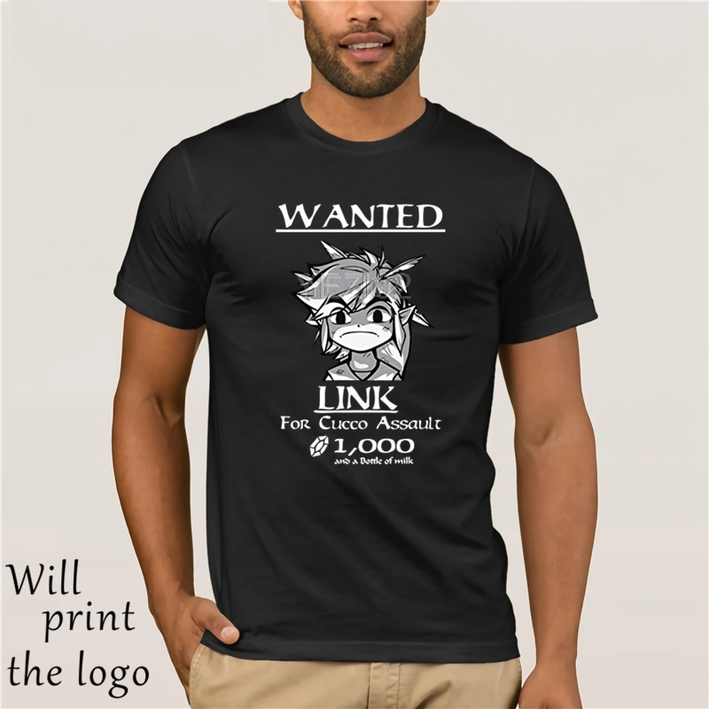 2019 Fashion Summer Top Tees Link Wanted! Legend of Zelda T-Shirt Shirt Youth Kids Tee