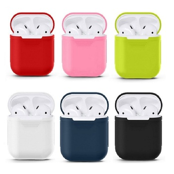 Mini Soft Silicone Case For Apple Airpods Shockproof Cover For Apple AirPods Earphone Cases for Air Pods Protector Case image
