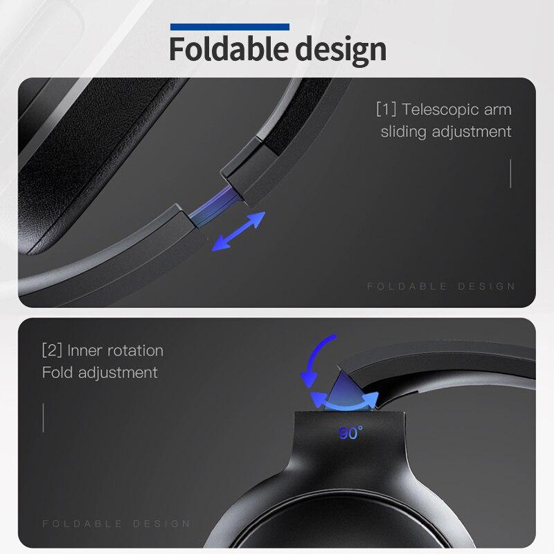 Image 5 - Baseus D02 Bluetooth наушники Складные bluetooth гарнитура  беспроводные наушники портативные bluetooth наушники с микрофоном для  телефонаНаушники и гарнитуры