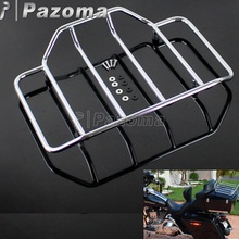 Motorcycle Chrome Tour Pak Pack Luggage Top Rack for Harley Touring Road King Street Electra Glide 1984-2017
