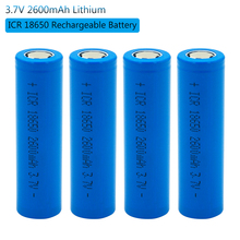 18650 Rechargeable Lithium Ion Battery Batteries 2600 Mah 3.7V Li-ion Real Capacity 2600mah