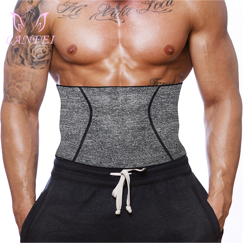 LANFEI Mens Waist Trainer Body Shaper Thermo Neoprene Gym Fitness Modeling Corset Slim Underwear Waist Support Weight Loss Belt