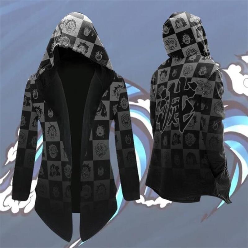 Anime Demon Slayer Kimetsu No Yaiba Tanjiro Kamado Cosplay Costume Men Kimono Plus Size Jackets cloak Halloween Party For Women