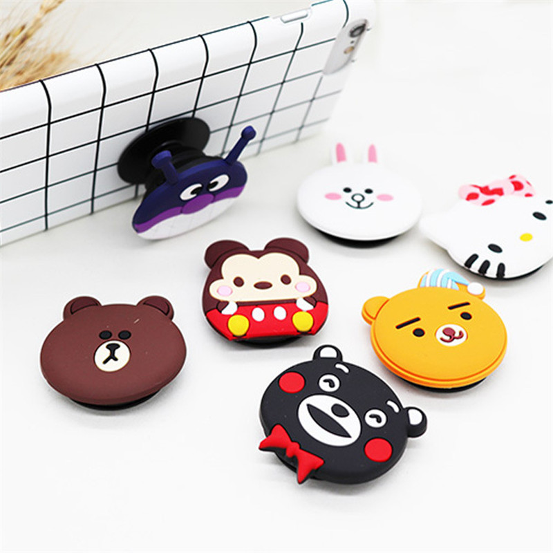 Cute Personality Drop Phone Stand Universal  Mobile Phone Balloon Bracket Retractable Cartoon Silicone Day Korean Female Models