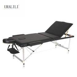 سرير تدليك المحمولة للطي ثلاثة أضعاف سبائك الألومنيوم الجمال الجسم الوشم آلة العلاج بالتدليك السرير 70 سنتيمتر Wideth