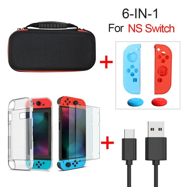 Étui de transport de voyage Durable Compatible pour NS Nintendo Switch accessoires sac de protection Portable à coque dure pour Console de commutation