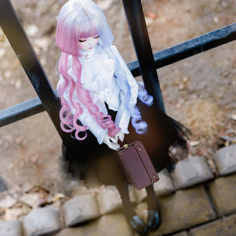 2020 New Style 1/3 1/4 1/6 Bjd Wig High Temperature Long Fashion Wavy Colorful Wire Bjd Wig SD For BJD Doll