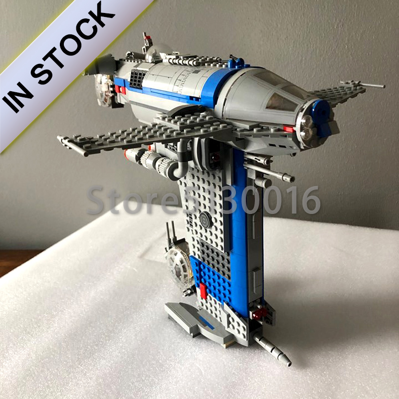 In Stock 05129 Star Series Wars The Resistance Bomber 873Pcs Star Wars Seriers Model Building Blocks Compatible with <font><b>75188</b></font> 10914 image