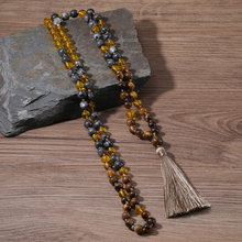 Ожерелье с бусинами japa mala для женщин и девушек длинное ожерелье