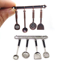 5Pcs Kitchen Dollhouse Miniature Spoon Shovel Cookware Tools DIY Accessories Kit Kids Pretend Play Toy Kids Toys For Children(China)