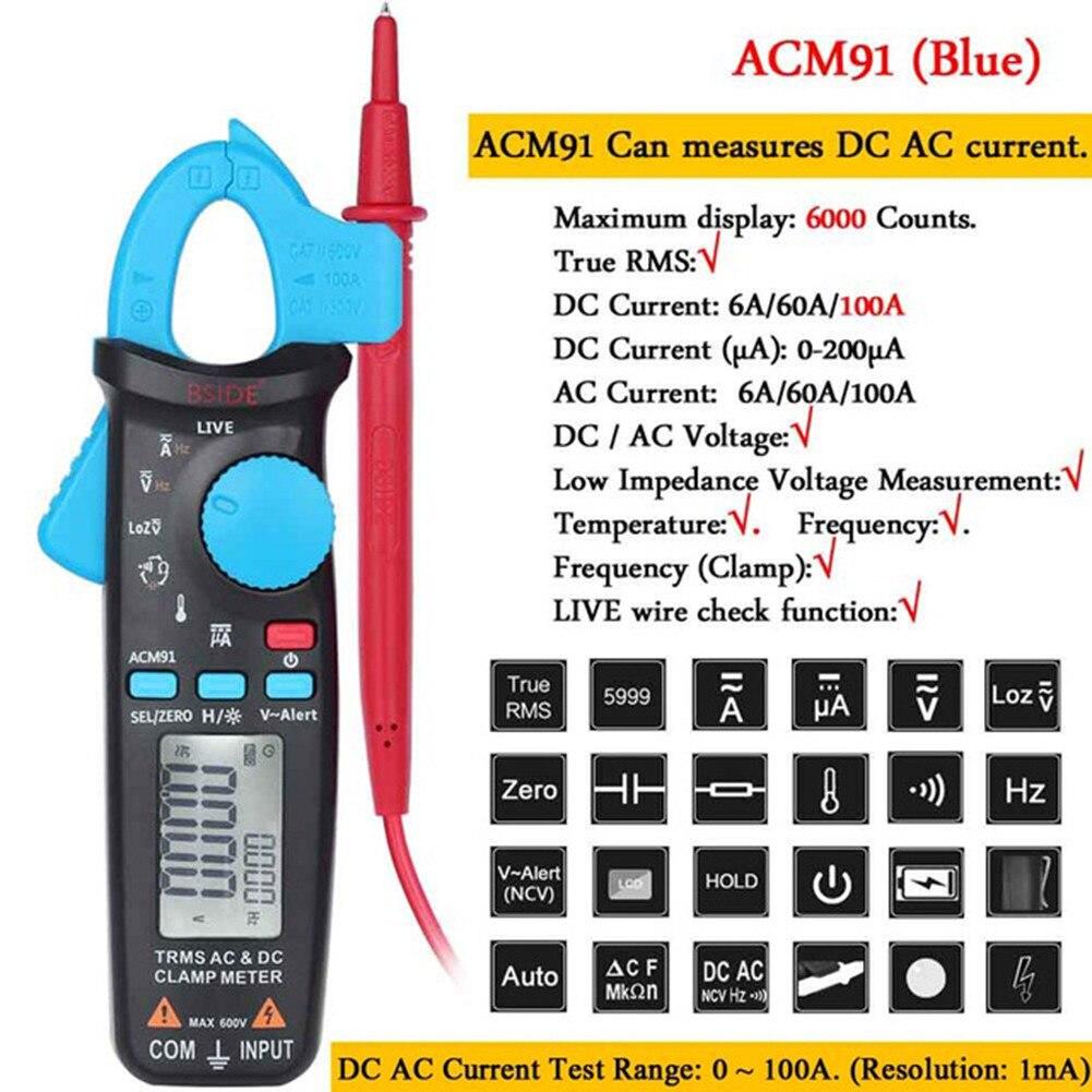 Acm91 1ma braçadeira medidor ac dc baixa