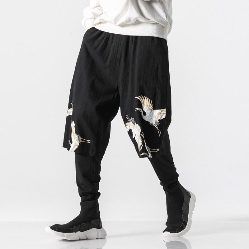 Chinese Style Printed Pencil Pants Men Jogger Full Length Hip Hop Pants Men Trousers Streetwear Joggers Men Pants 2019 KK3060