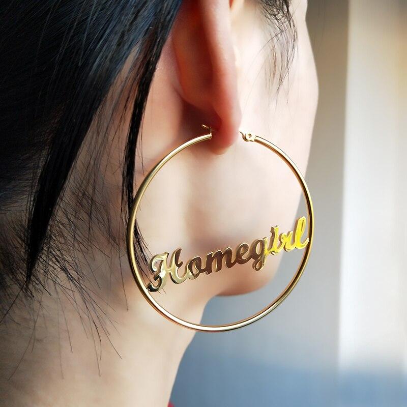 2 Pairs Titanium Steel Round Dangle Drop Earring Studs Hoop Earring Set for Women Girls Circle Earrings