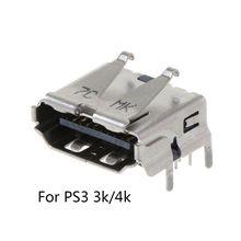 Para playstation 3 ps3 hd ps 3 super fino 3000 4000 3k 4k hdmi porto jack conector de interface soquete substituição