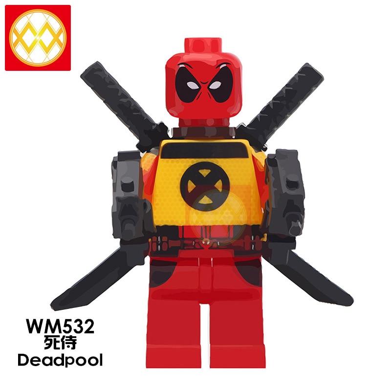 Deadpool Minifigure-Super Heroes Marvel Avengers Figure Custom Lego Minifigures