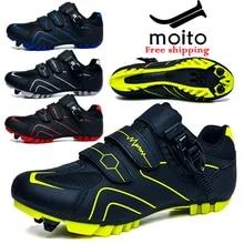 Shoe Bicycle-Shoes Mountain-Bike MTB Self-Locking Ciclismo Women Elastic-Button Professional
