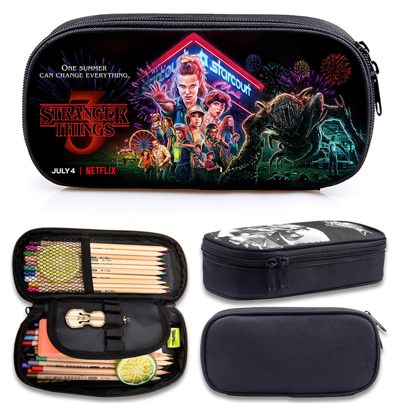 Stranger Things 3 Multi-function Children Pencil Bag Children Boy Girl Children Pencil Bag Cute High Quality Stationery