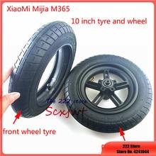 Atualizado 10 polegadas scooter elétrico exterior tubo interno para xiaomi mijia m365 rodas do motor dianteiro pneus & inflação pneus traseiros roda