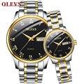 OLEVS часы Пара Авто Дата Неделя кварцевые наручные часы набор любителей водонепроницаемый оригинальный бренд для женщин мужчин повседневно...