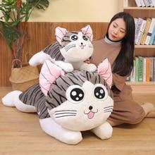 Большая кукла-плюшевый Кот игрушка Чи кот чучела животные гигантская кукла сырный кот мягкая подушка игрушки для детей детские подарки на день рождения