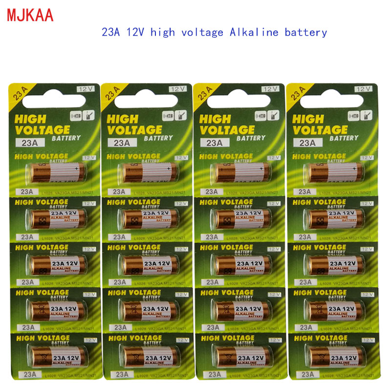 20pcs / 4card New High Quality <font><b>12V</b></font> 23A Alkaline Battery MN21 V23GA VR22 <font><b>A23</b></font> L1028 Alkaline Dry Battery 23A for Remote Control image