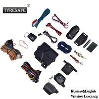TYRESAFE B9 English&Russian Version Two way Start Car Alarm Burglar Alarm System Alarm Remote Control With Silicone Cover Gift|Burglar Alarm| |  -