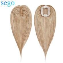 """SEGO """"-20'' 6x9 см прямая шёлковые волосы фигурки жениха и невесты; настоящие человеческие волосы женский парик замены волос Реми блонд, черный, 13 Цветов"""
