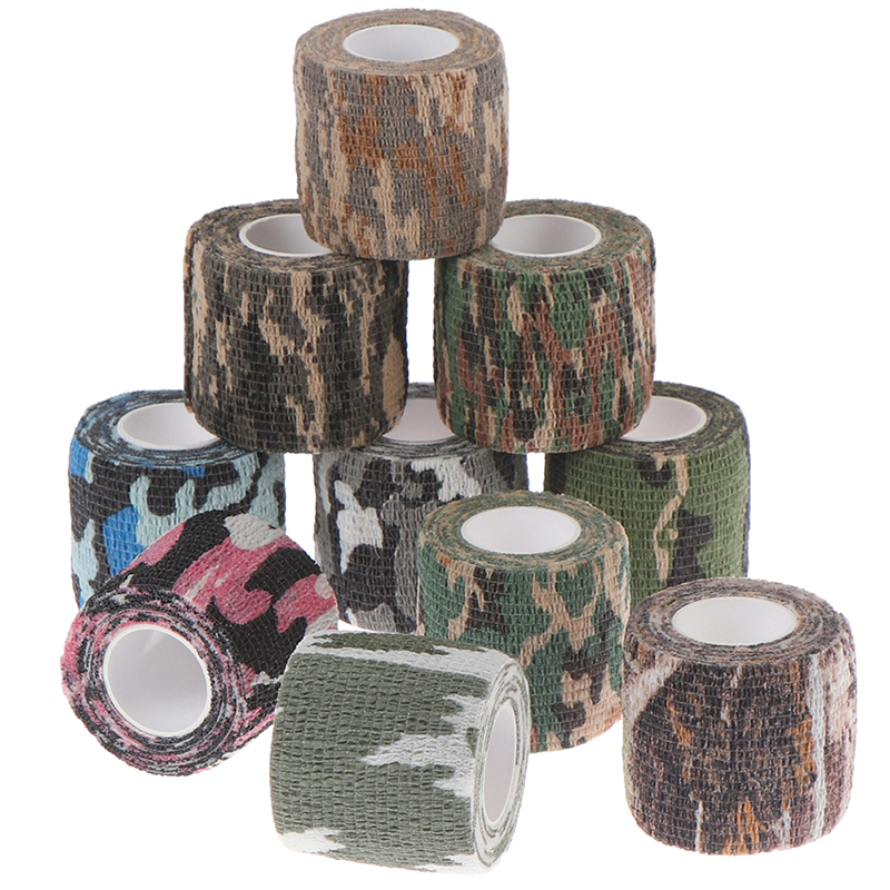 Camouflage Elastic Wrap Tape Self Adhesive Sports Protector Ankle Knee Finger Arm Bandage Skin Care