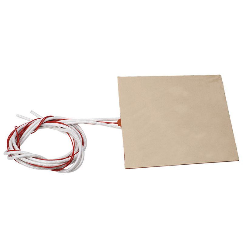 Image 3 - 120x120mm 12V 120W Silicone Heater Pad 3D Printer Heated Bed Heating Mat-in 3D Printer Parts & Accessories from Computer & Office