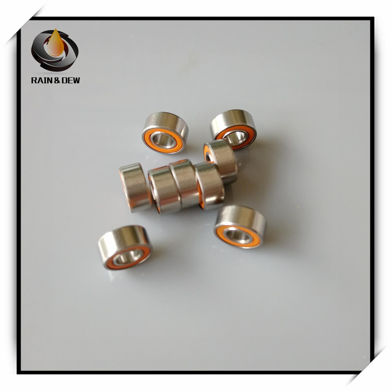 1Pcs  S684 2RS CB ABEC7 4X9X4 Mm 684 Stainless Steel Hybrid Ceramic Ball Bearing
