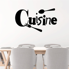 Creative Cuisine Letters Wall Decals Kitchen Dining Room Home Decor Removable Wall Stickers Vinyl Mural Art Diy Wallpaper