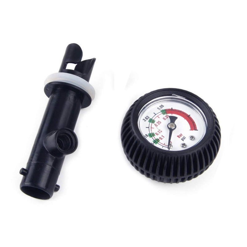 New PVC Pressure Gauge Air Thermometer For Inflatable Boat Kayak Test Air Pressure Valve Connector Stand Up Paddle Board Surfing