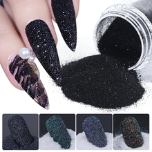 1 коробка для дизайна ногтей сахарный порошок черный белый окунающий порошок пылезащитный пигмент для ногтей блестящие лазерные украшения ...