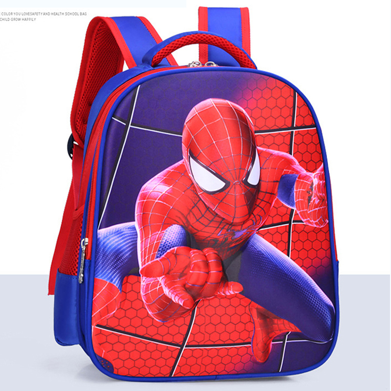 NEW Nylon Waterproof Schoolbag 5D Spider-man Cartoon Double Shoulder Bag Boy Girl Outdoor Travel Bag Mochila Infantil