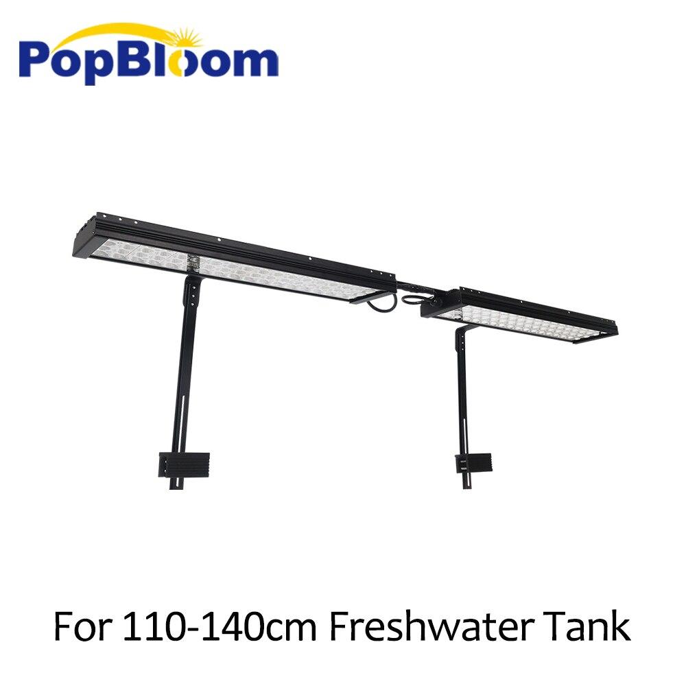 Lampe à lumière LED pour aquarium PopBloom pour lumière LED pour aquarium pour eau douce meilleure pour aquarium 110-140cm avec kit de montage de bras FI4BP2