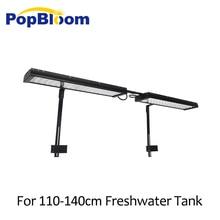 PopBloom aquarium led light lamp for freshwater best 110-140cm fish tank with arm mounting kit FI4BP2