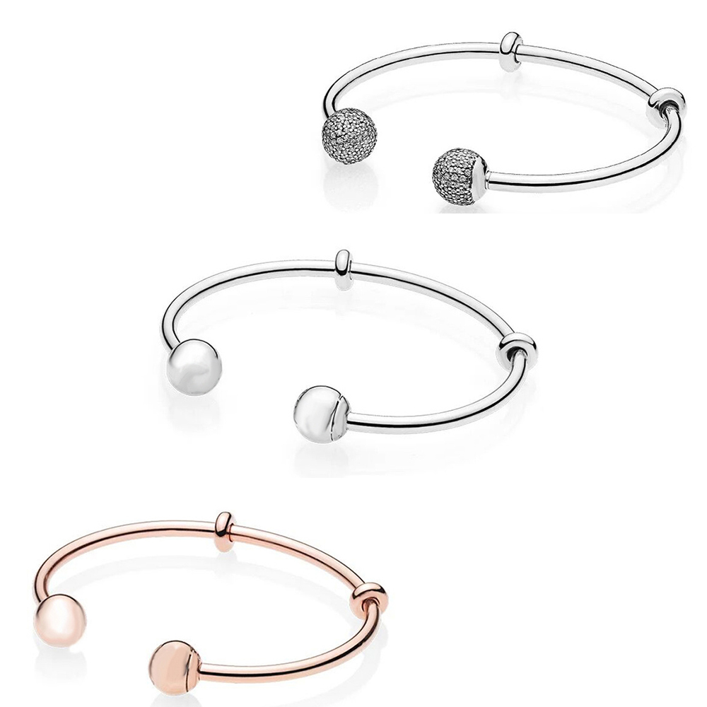 JEM 925 sterling silver fit original pan bracelet DIY charm chain personality simple luxury high quality lady fashion jewelry in Bracelets Bangles from Jewelry Accessories