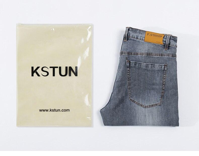 KSTUN New Arrivals Mens Jeans Brand Slim Straight Regular Fit  Stretch 2020 Summer Denim Pants Jeans Men Vintage Cowboys Top Quality 20